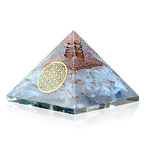 Orgone Selenite Crystal Pyramid