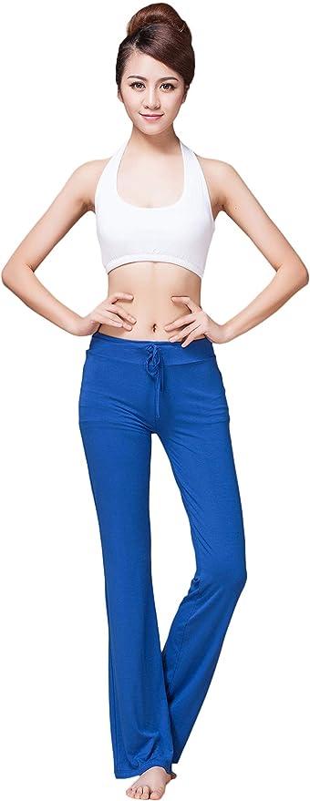 SHEKINI Womens Yoga Drawstring Loose Pants Wide Leg Loose Pants Plus Size Elasticized Waist