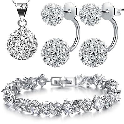 4b719dbff51e Kim Johanson Damen Schmuckset  quot Queen quot  Halskette mit Anhänger,  Ohrringe   Armband aus