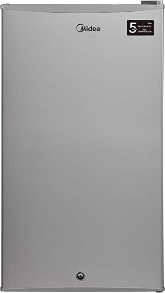 Midea Direct Cool Refrigerator, Silver, With Lamp, Net Capacity 93 Liters, HS121LNS, 1 year warranty