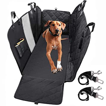 Groovy Pedy Dog Seat Cover With Hammock 100 Waterproof Back Seat Cover Nonslip 600D Heavy Duty Pet Seat Cover With Mesh Window Storage Pockets For Cars Short Links Chair Design For Home Short Linksinfo