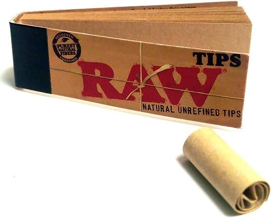 500 puntas de filtro de papel de liar Raw; 10 librillos de 50, tamaño estándar, vegano: Amazon.es: Salud y cuidado personal