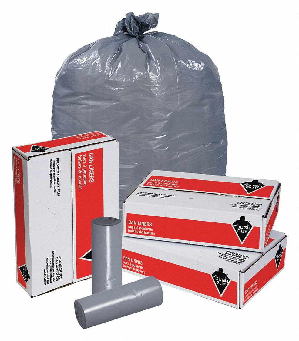 Amazon.com: Trash Bags, 60 gal, 2.0 mil, PK100: Industrial ...