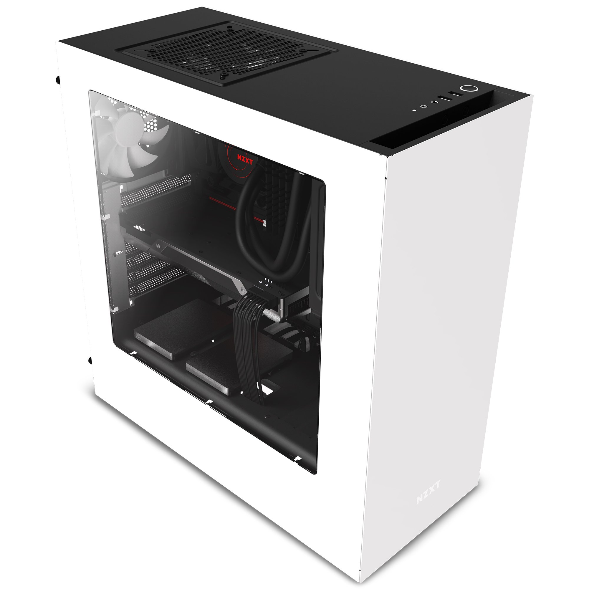 NZXT S340 Mid Tower Computer Case, White (CA-S340W-W1) by Nzxt (Image #11)
