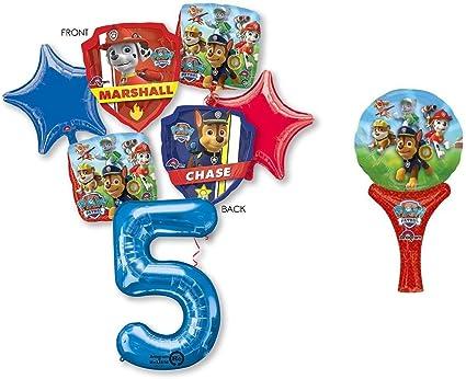 Amazon.com: PAW PATROL 5TH BIRTHDAY BALLOONS BIRTHDAY PARTY ...