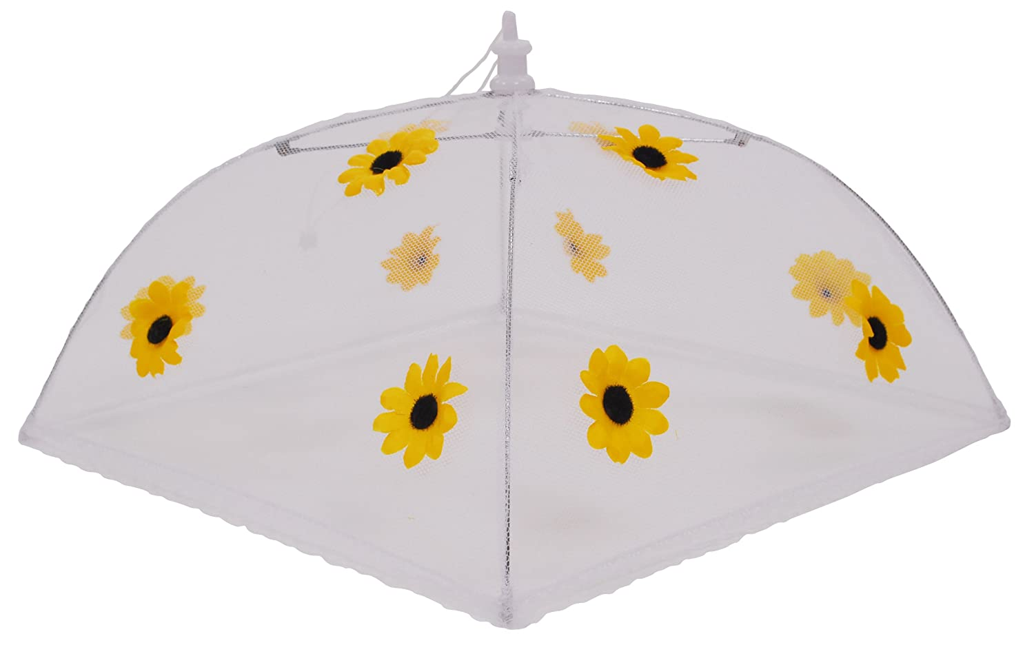 Epicurean Europe 30 x 30 cm Polyester with Zinc Plated Steel Frame Food Cover Umbrella with Yellow and Black Sunflower Design Epicurean Europe Ltd 39JN1124