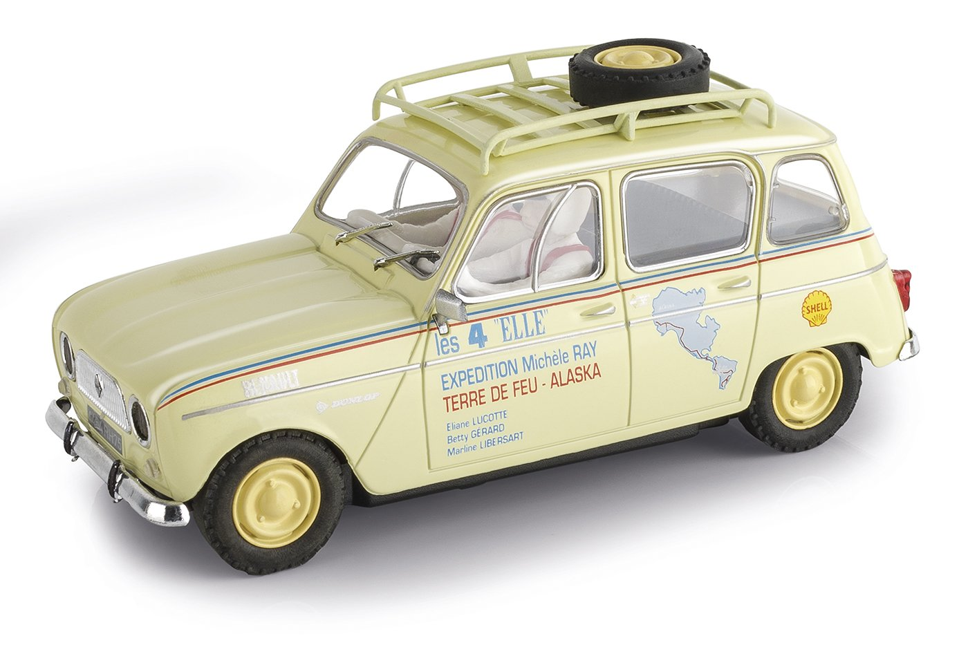 Scalextric - Renault 4L Tierra de Fuego, coche de juguete (A10221S300)
