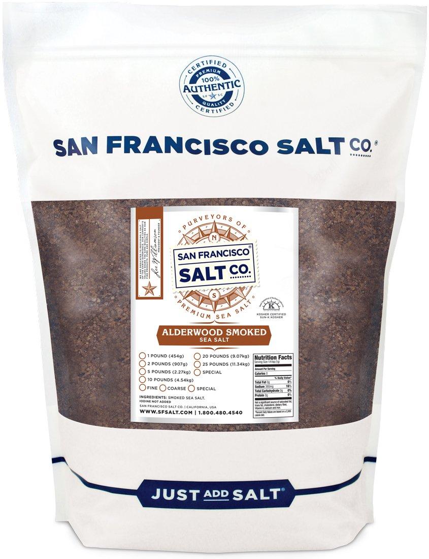 Alderwood Smoked Sea Salt - 5 lb. Bag Coarse Grain by San Francisco Salt Company by San Francisco Salt Company