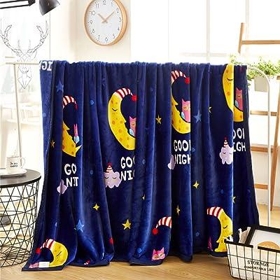 Couverture double épaisseur douce mode confortable canapé jeter peluche infroissable pour hiver adultes enfants maison exterieur en plein air ou faire la sieste-F 39*47inch(100*120cm)