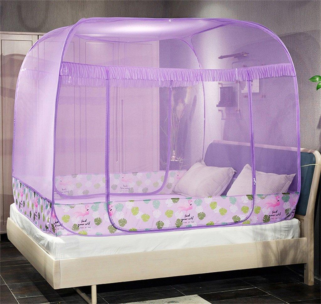 Moskitonetz-Bett-Überdachungs-Zelt-Vorhänge für Betten Schlafzimmer frei zu installieren faltender Reißverschluss-tragbarer Innencamping-Student im Freien wenden an 1.2   1.5   1.8m Bett an ( Farbe   A , größe   1.8m )