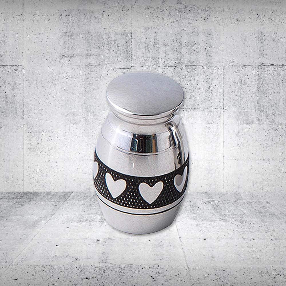 Cuore Turspit Urna di Cremazione in Acciaio Inossidabile Grande Cremazione Urne Umana Urna Funeraria di Cisterna per Cenere Umana