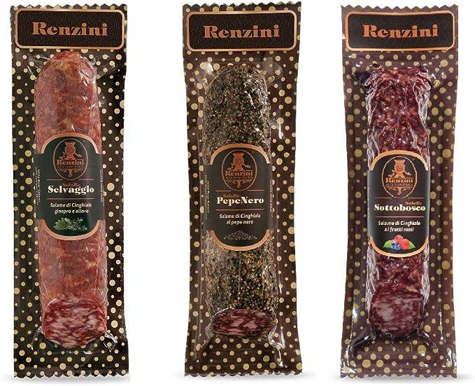 Salame renzini- retris di salami di cinghiale, salumi gourmet, salami gourmet, selezione salumi norcia B08N1MMG2P