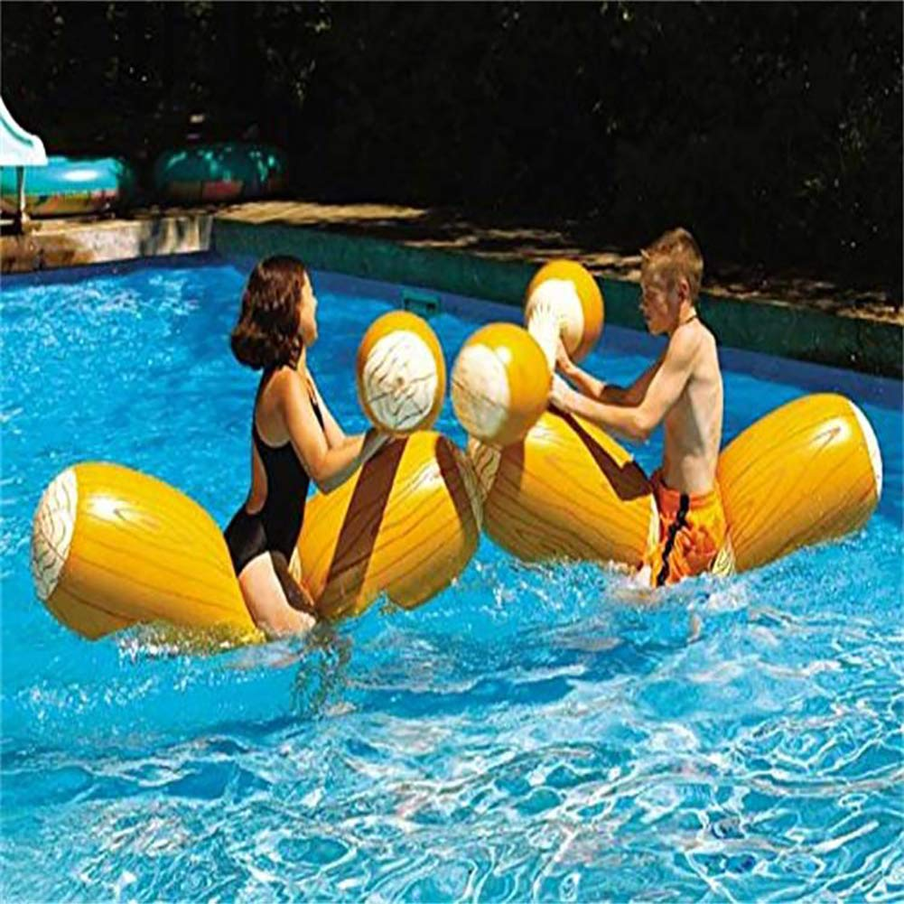 HsgbvictS Funny Wood Grain Inflatable Kid Adult Water Floating Toys Outdoor Summer Row Bar Wood Grain Design, Inflatable, Funny by HsgbvictS (Image #3)