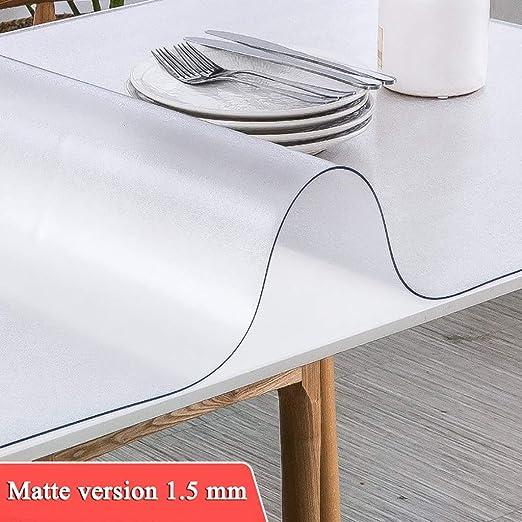 HMHD Mantel Transparente Rectangular, Mantel de Vidrio Blando ...