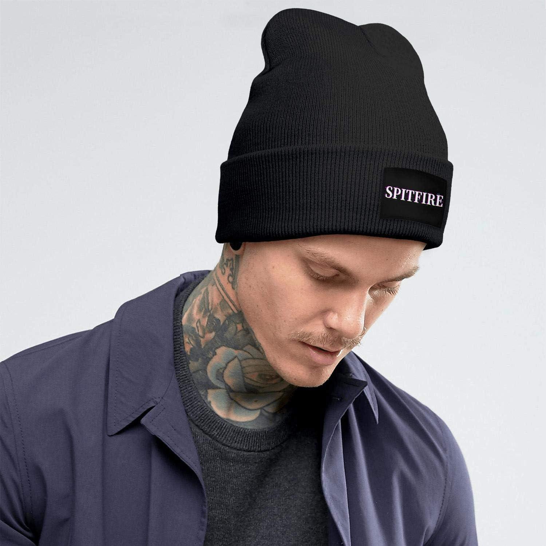 Just Hiker Unisex Winter Halloween Warm Spitfire-Logo-Beanie Hat Outdoor Sport Ski Retro Knit Hat Skull Cap for Women Men