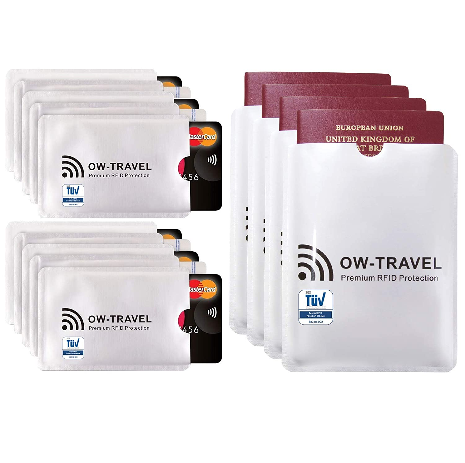 ✅TÜV Approved NFC RFID Card Protector Sleeves Passport  Card Blocker  Contactless Card Protection  Credit Card Holder RFID Blocking Card Sleeve   Card