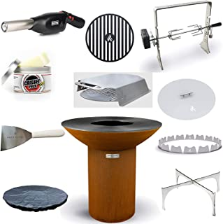 "product image for ARTEFLAME Classic 40"" Grill with a High Round Base Home Chef Max Bundle with 10 Grilling Accessories."