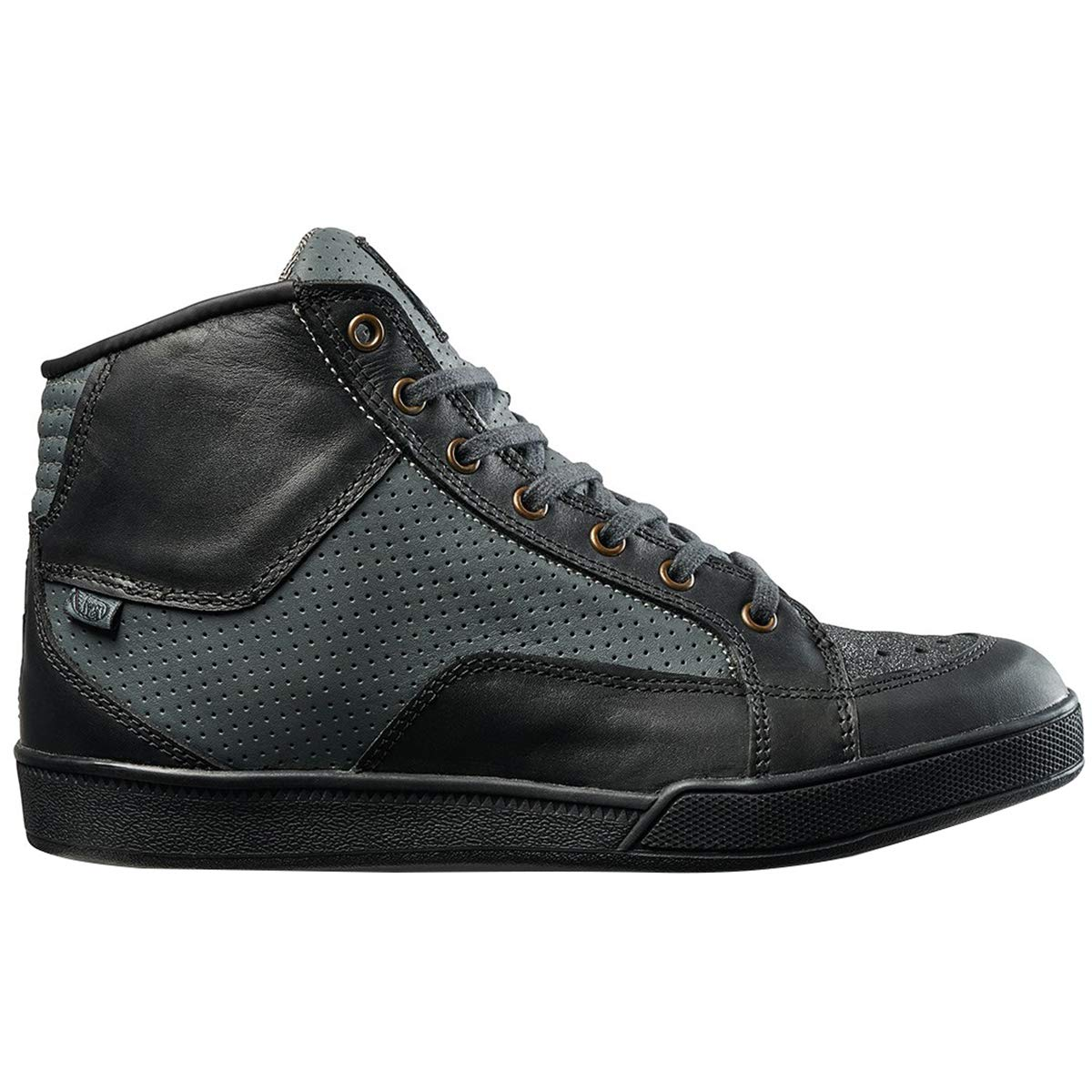 Black Charcoal 9.5 Roland Sands Design Fresno Perforated Mens Street Motorcycle Shoes