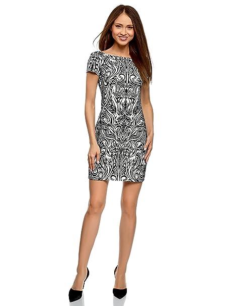 ed70c2030b oodji Ultra Mujer Vestido de Punto con Estampado de Felpa  Amazon.es  Ropa  y accesorios