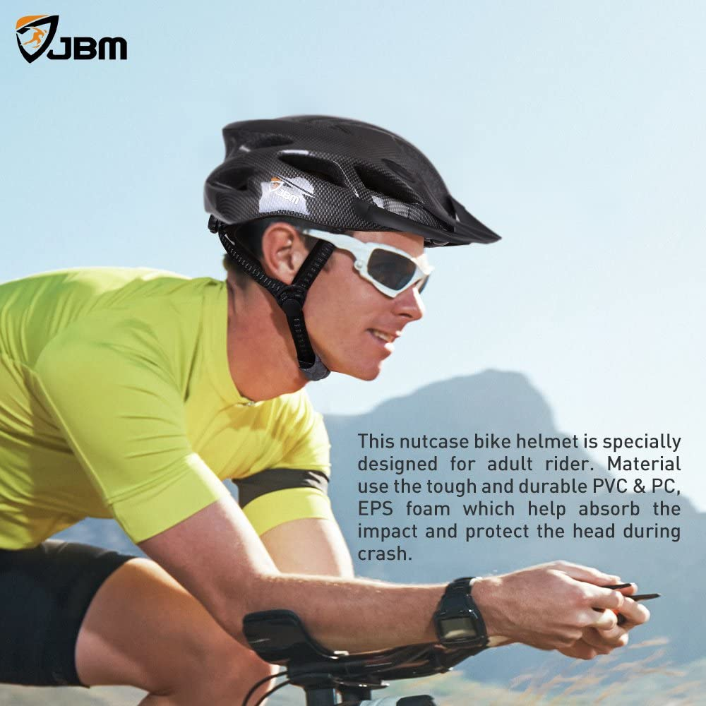 JBM Adult Cycling Bike Helmet Specialized for Men Women Safety Protection CPSC Certified 18 Colors Adjustable Lightweight Helmet