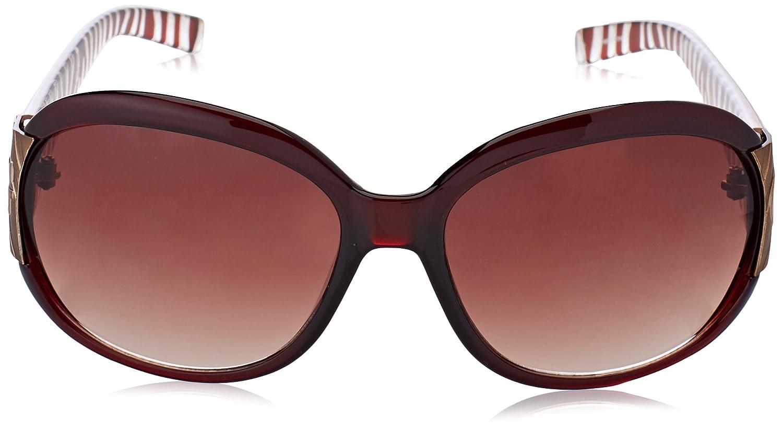 Guess Damen Sonnenbrille GU7002BRN-34A, Schwarz (Brown), 60