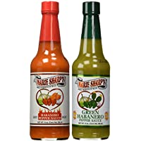 Marie Sharp's HOT and GREEN Habanero Pepper Sauce 10oz (Pack of 2)