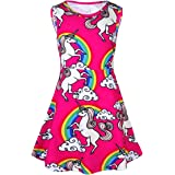 FEESHOW Girls Rainbow Dresses Casual Playwear Party Birthday Dress up Clothes