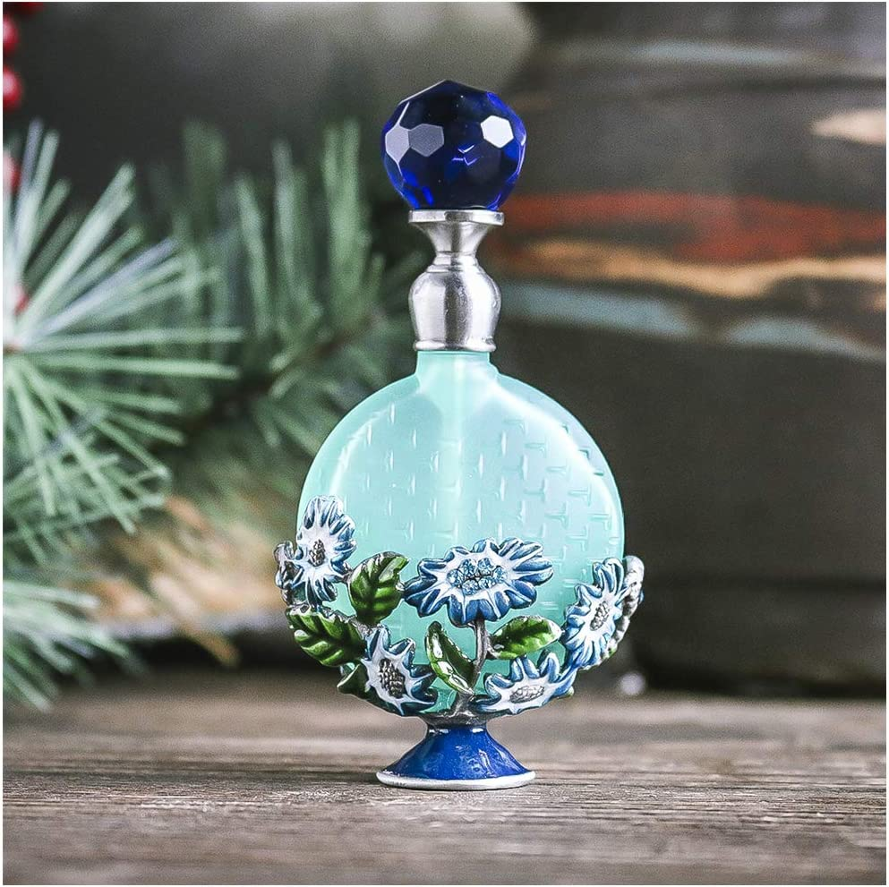 Handmade Vintage Empty Blue Crystal