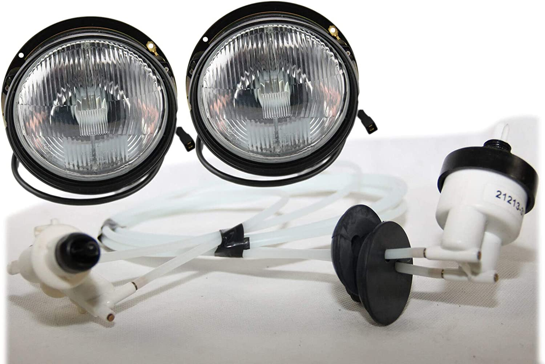 Lot de 2 phares Niva H4 et r/églage de la port/ée lumineuse 4 x 4 Taiga