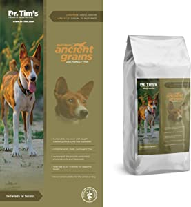 Dr. Tim's Premium All Natural Pet Food Heirloom Ancient Grains Dog Formula, Fish 15#
