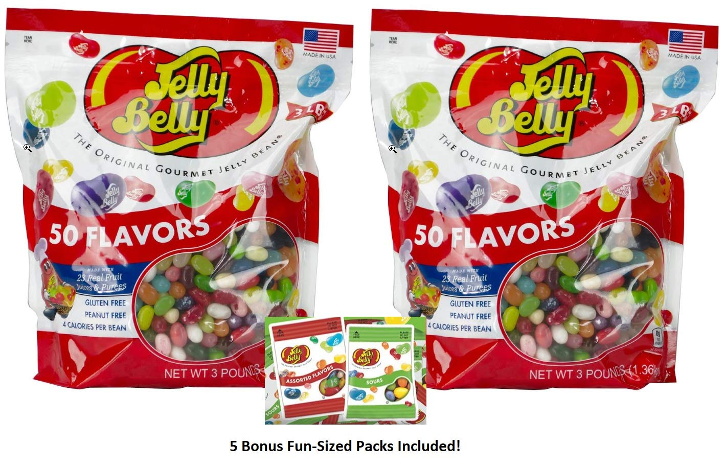 Jelly Belly Jelly Beans 50 Flavors 6 Pounds, Includes Five Bonus Fun-Sized Packs by Jelly Belly