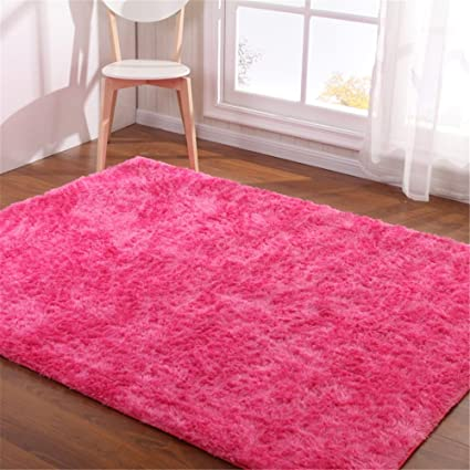 Amazon.com: Hoomy Hot Pink Carpet Large Living Room Carpets for Home ...