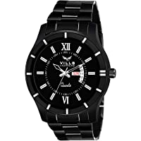 Vills Laurrens Black Day & Date Watch for Men and Boys