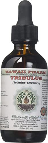 Tribulus Alcohol-FREE Liquid Extract, Tribulus Tribulus Terrestris Dried Fruit Glycerite Natural Herbal Supplement, Hawaii Pharm, USA 2 fl.oz