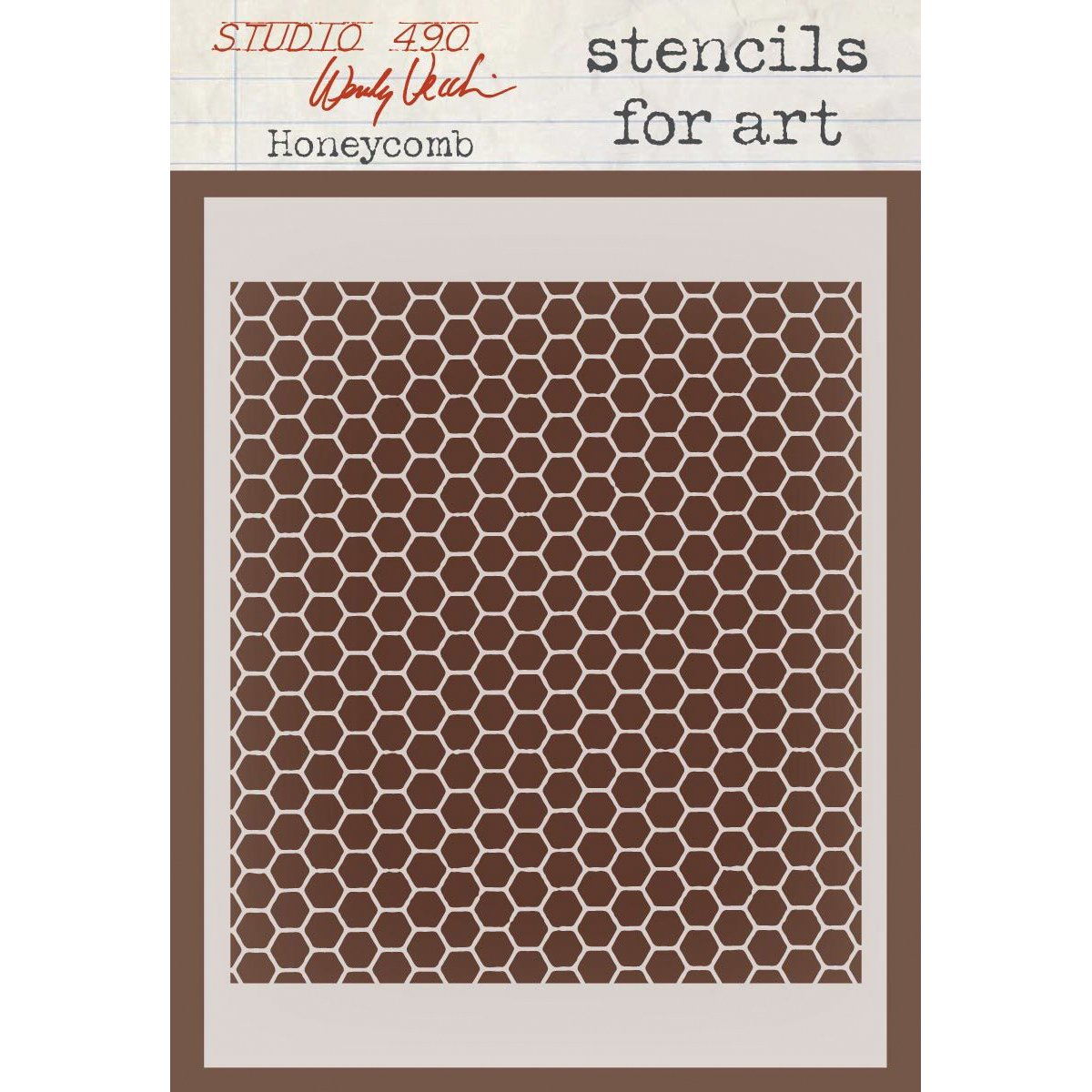 Stampers Anonymous Wendy Vecchi Studio Stencil Collection, 6.5-Inch by 4.5-Inch, Honeycomb SFA-18