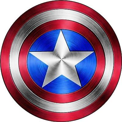 "Captain America Shield Vinyl Sticker DecalSIZES (4"" x 4""): Automotive"