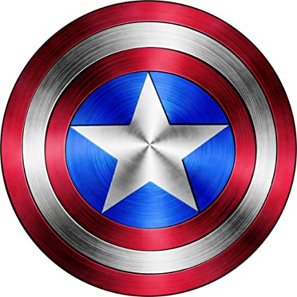"Amazon.com: Captain America Shield Vinyl Sticker Decal *SIZES* (4"" x 4""): Automotive"
