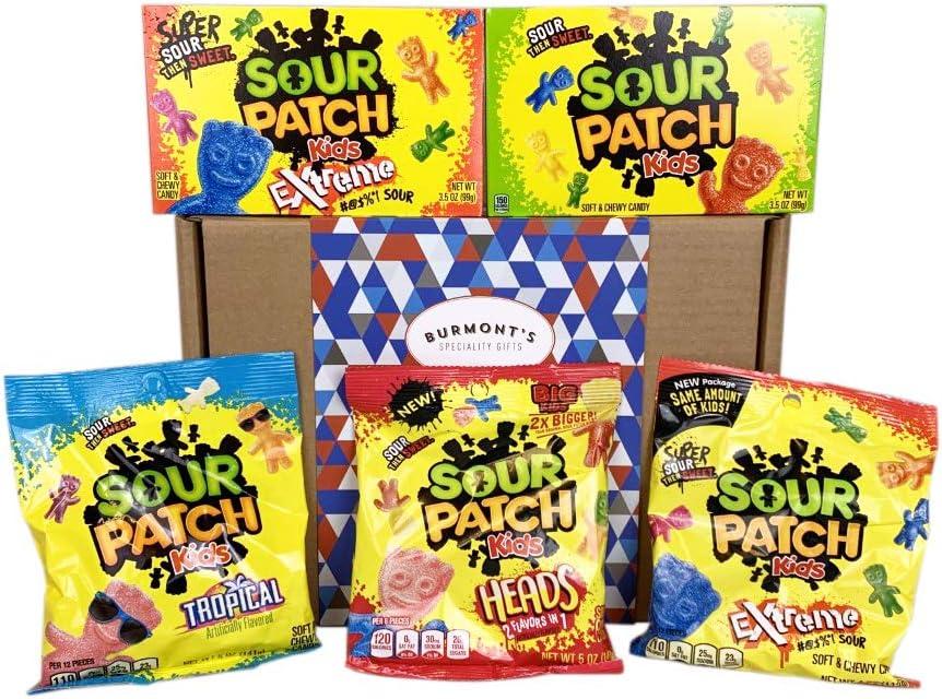 Caja De Regalo Sour Patch Kids Con La Selección Definitiva De Caramelos Americanos - Cesta Exclusiva Para Burmonts: Amazon.es: Alimentación y bebidas