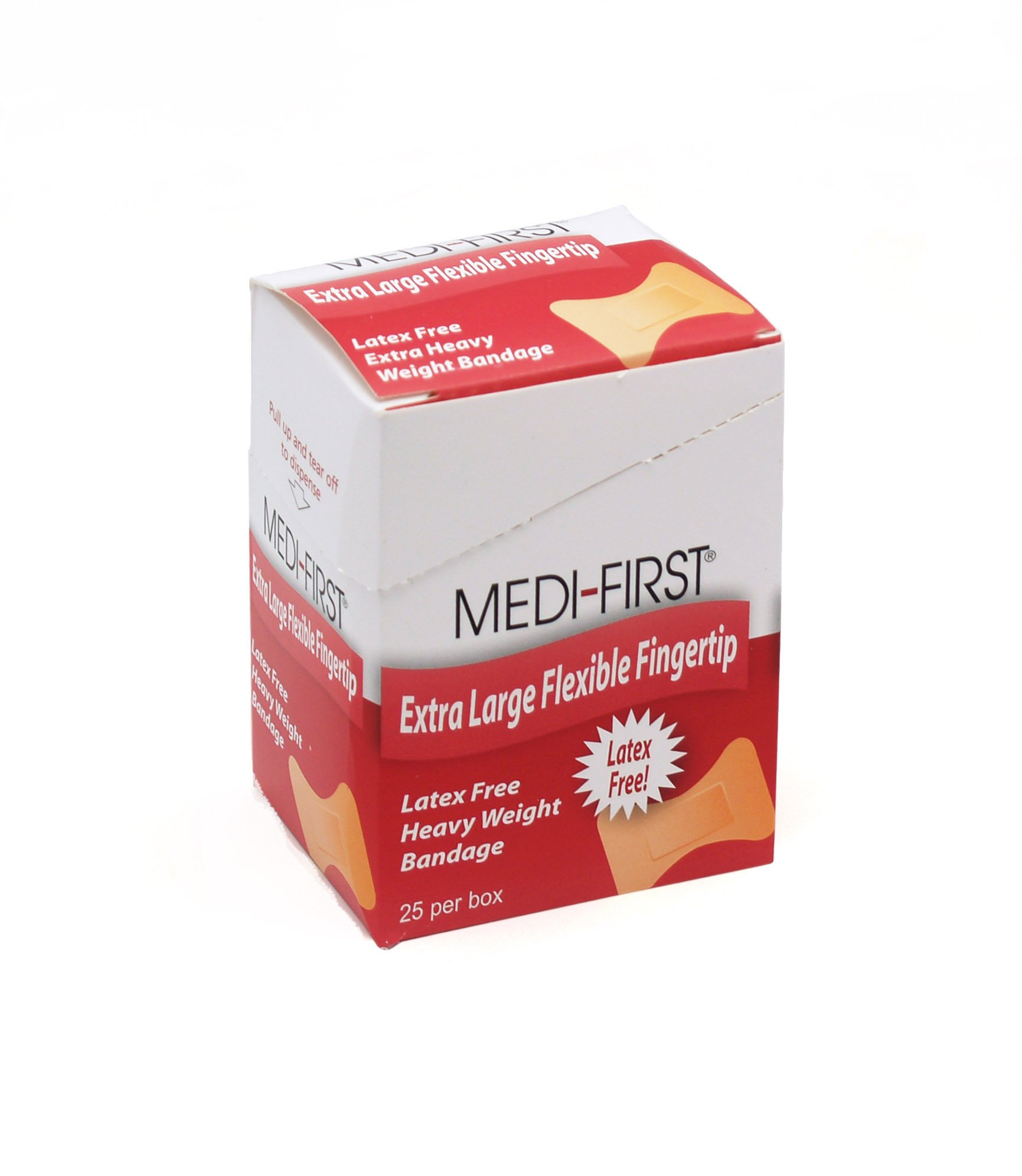 Medique Products 61773 Woven Extra Heavy Weight Latex Free Fingertip Bandage, X-Large, 25 Per Box