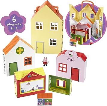 Amazon.es: Peppa Pig - Maletín casa de juguete de Peppa Pig: Juguetes y juegos