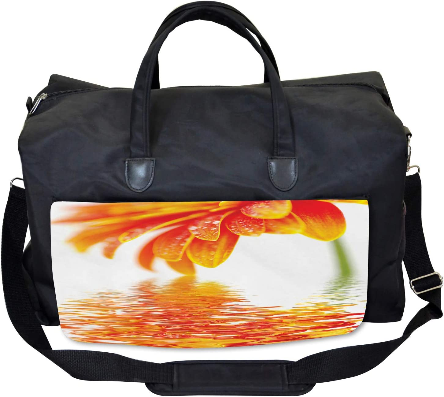 Large Weekender Carry-on Sun Flower Reflection Ambesonne Flower Gym Bag