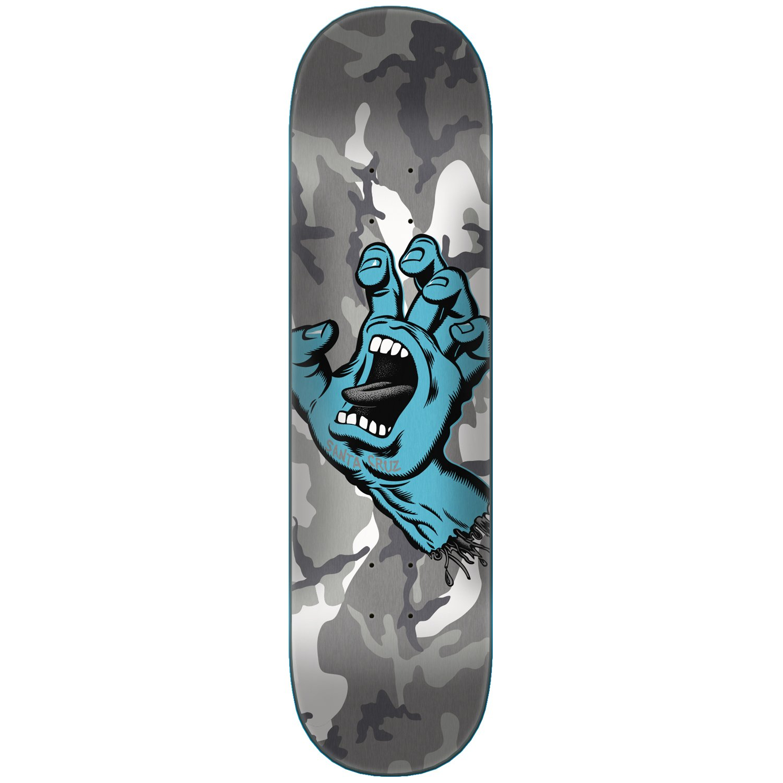 Santa Cruz Skateboard Deck Screaming Hand Camo Grey 8.5''