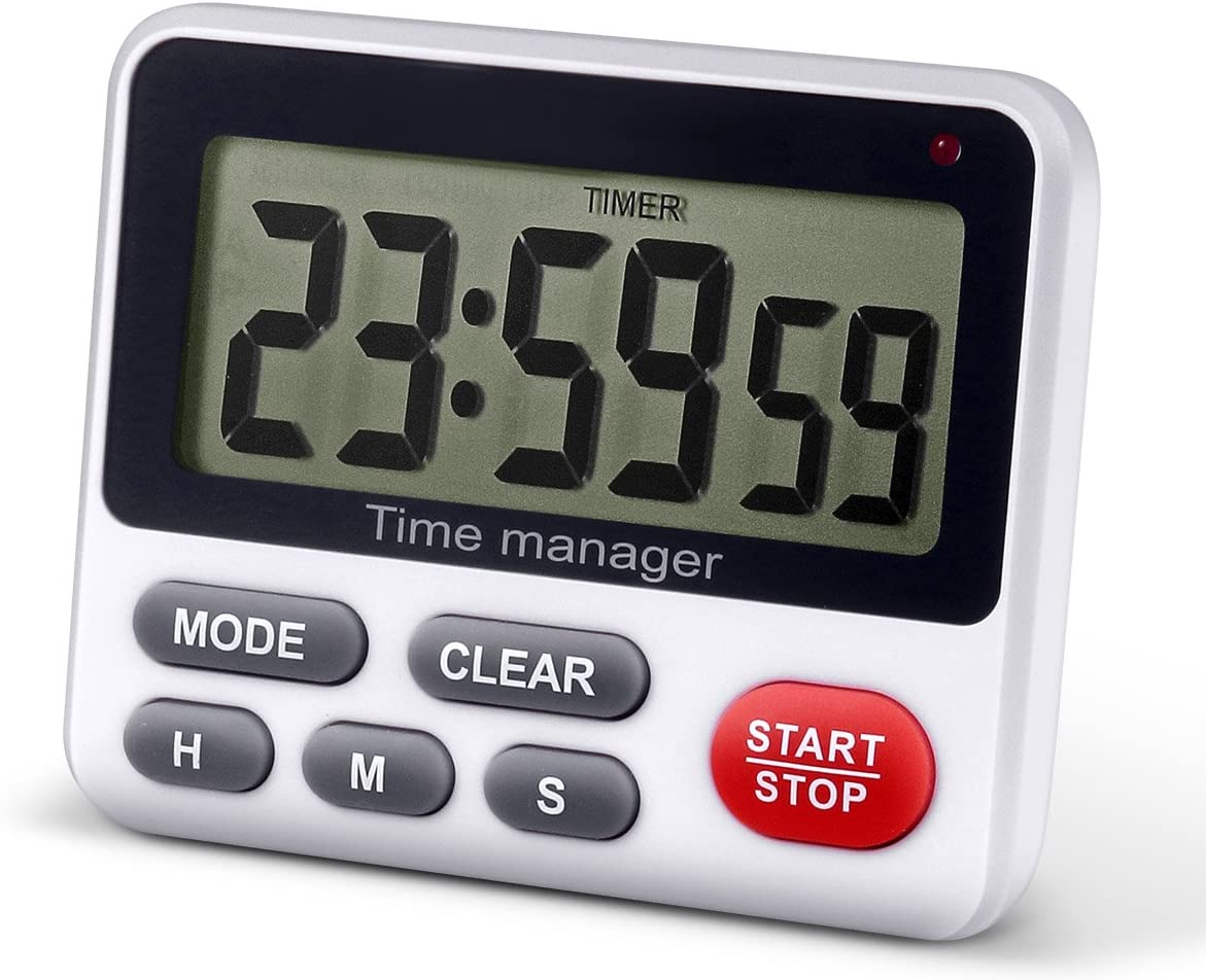 QWM Digital Kitchen Timer with Countdown and Countup,Clock with Loud Alarm for Cooking