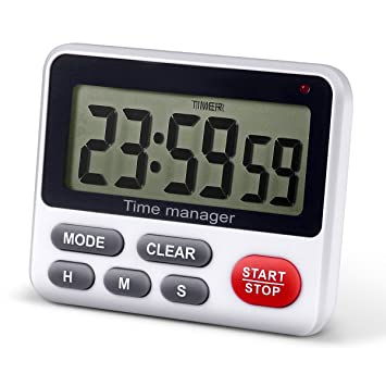 Amazon.com: Digital Kitchen Countdown Timer - AIMILAR Count Up Down ...