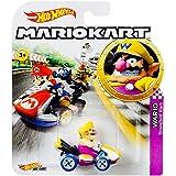Hot Wheels Mario Kart Wario Die-Cast Character Car 1:64 Scale, Purple