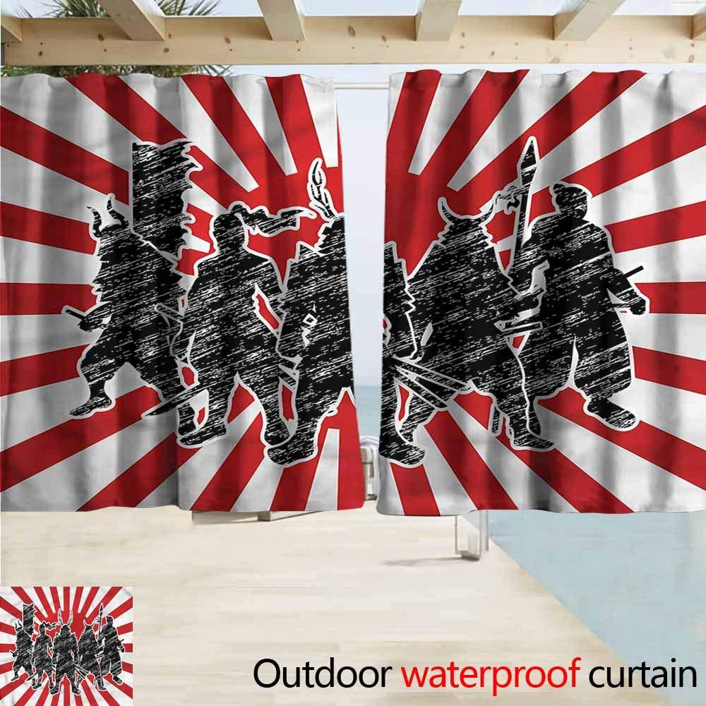Amazon.com : Outdoor Patio Curtains Japanese Samurai Ninja ...