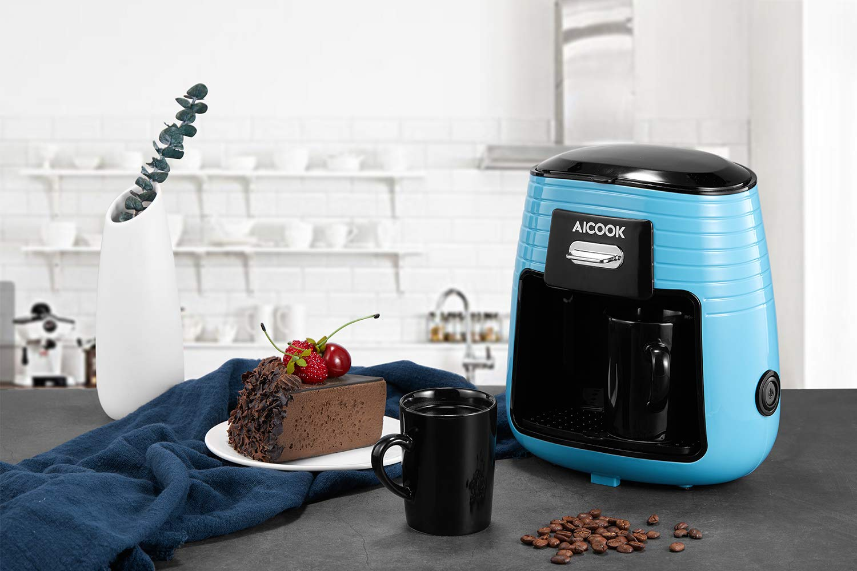 Aicook Cafetera de Goteo, Mini Cafetera Portátil con Diseño ...