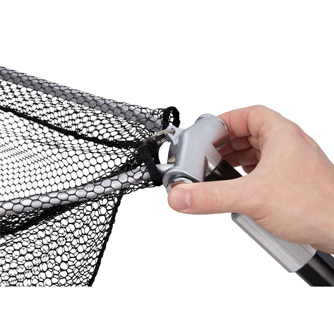 2-teilig  Metallgelenk  in verschiedenen Längen DAM Unterfangkescher  gummiert