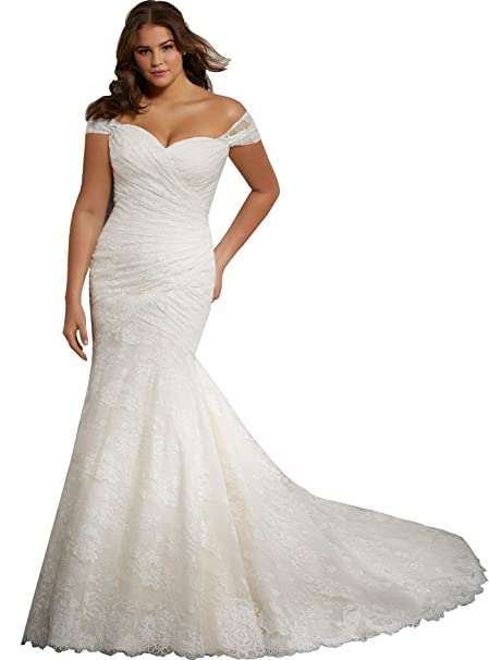Beauty Bridal Off The Shoulder Mermaid Wedding Dresses for Bride ...