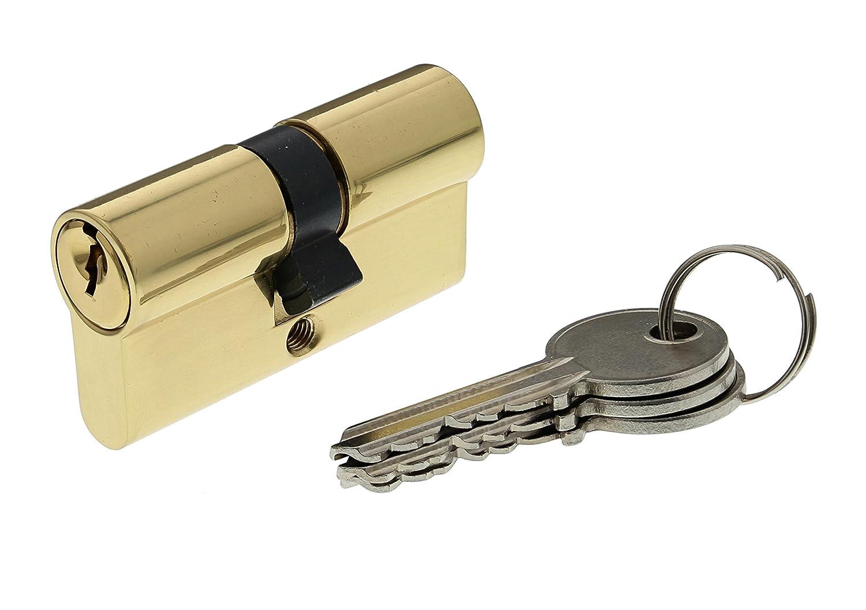 Bricard 30104 Cylindre de serrure double entr/ée Securipro dimension 30+40 mm en Laiton